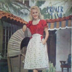 Cinéma: REVISTA DE CINE , PRIMER PLANO , 1946 - Nº 318 , PORTADA CAROLE LANDIS. Lote 31420762