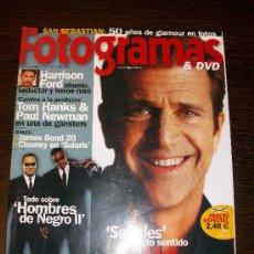 Cine: FOTOGRAMAS Nº 1907 (SEPTIEMBRE 2002) - MEL GIBSON, HOMBRES DE NEGRO II. Lote 31524409