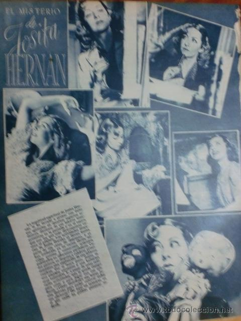 Cine: REVISTA PRIMER PLANO. AGOSTO 1943. Nº 146. MARY DELGADO. EL MISTERIO DE JOSITA HERNAN. - Foto 2 - 178601356