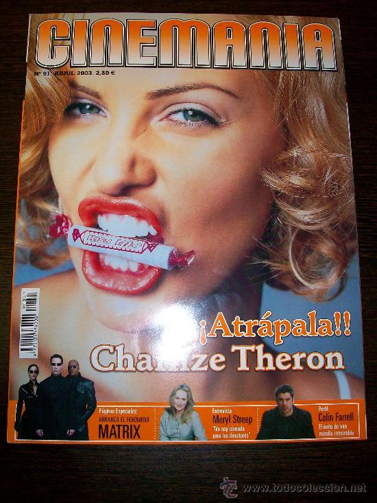 CINEMANIA Nº 91 (ABRIL 2003) - CHARLIZE THERON - CON GUÍA DVD Nº 10 Y DOS SUPLEMENTOS MÁS (Cine - Revistas - Cinemanía)