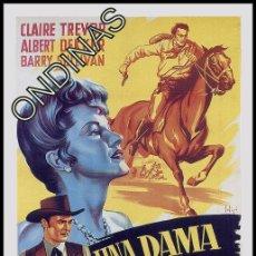 Cine: P-3617- UNA DAMA EN EL OESTE (THE WOMAN OF THE TOWN) (SOLIGÓ) COPIA CARTEL, FORMATO FOLLETO DE MANO. Lote 115309270