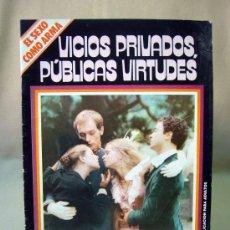 Cine: REVISTA, FILM DOCUMENTO, VICIOS PRIVADOS, PUBLICAS VIRTUDES, EDINAPER, 1977. Lote 31676057