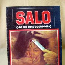 Cine: REVISTA, SALO, PASOLINI, MIRASIERRA, 1977. Lote 31677639
