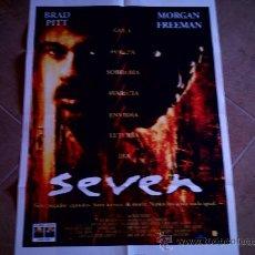 Cine: POSTER CARTELMANIA Nº 10 SEVEN (84X58) CON ESTUDIO POR DETRAS Y FILMOGRAFIA. Lote 31660808