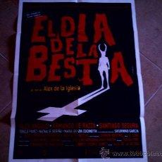 Cine: POSTER CARTELMANIA Nº 9 EL DIA DE LA BESTIA (84X58) CON ESTUDIO POR DETRAS Y FILMOGRAFIA. Lote 31660846
