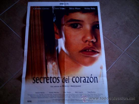 POSTER CARTELMANIA Nº 7 SECRETOS DEL CORAZON (84X58) CON ESTUDIO POR DETRAS Y FILMOGRAFIA (Cine - Reproducciones de carteles, folletos...)