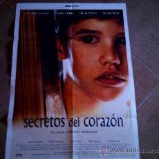 Cine: POSTER CARTELMANIA Nº 7 SECRETOS DEL CORAZON (84X58) CON ESTUDIO POR DETRAS Y FILMOGRAFIA. Lote 31660874