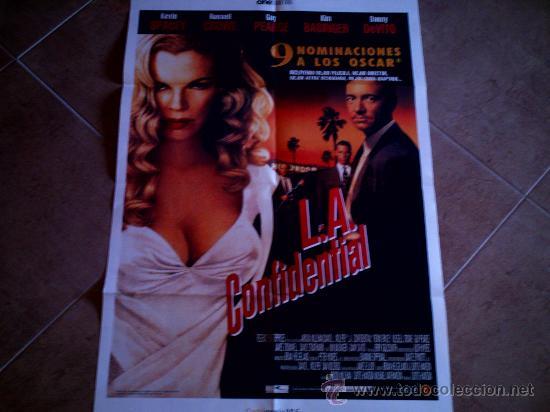 POSTER CARTELMANIA Nº 6 L.A. CONFIDENTIAL (84X58) CON ESTUDIO POR DETRAS Y FILMOGRAFIA (Cine - Reproducciones de carteles, folletos...)