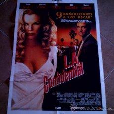 Cine: POSTER CARTELMANIA Nº 6 L.A. CONFIDENTIAL (84X58) CON ESTUDIO POR DETRAS Y FILMOGRAFIA. Lote 31660884