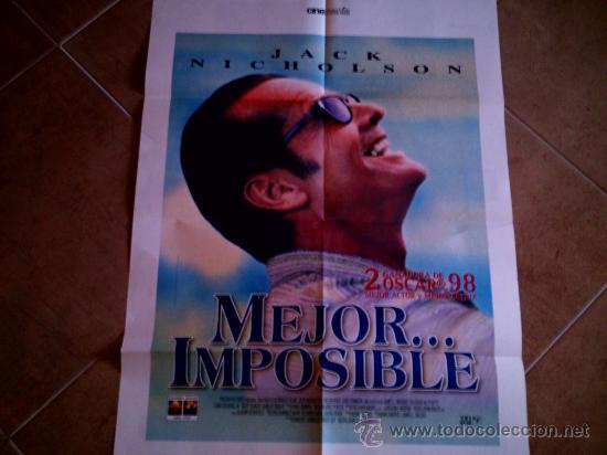 POSTER CARTELMANIA Nº 5 MEJOR IMPOSIBLE (84X58) CON ESTUDIO POR DETRAS Y FILMOGRAFIA (Cine - Reproducciones de carteles, folletos...)