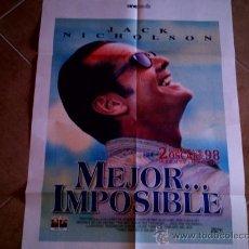 Cine: POSTER CARTELMANIA Nº 5 MEJOR IMPOSIBLE (84X58) CON ESTUDIO POR DETRAS Y FILMOGRAFIA. Lote 31660896