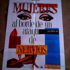 Cine: POSTER CARTELMANIA Nº 2 MUJERES AL BORDE DE ATAQUE DE NERVIOS (84X58) CON ESTUDIO Y FILMOGRAFIA. Lote 31660923