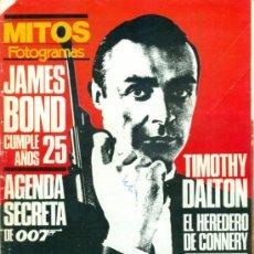 Cine: MITOS FOTOGRAMAS JAMES BOND 25 AÑOS. Lote 32003084