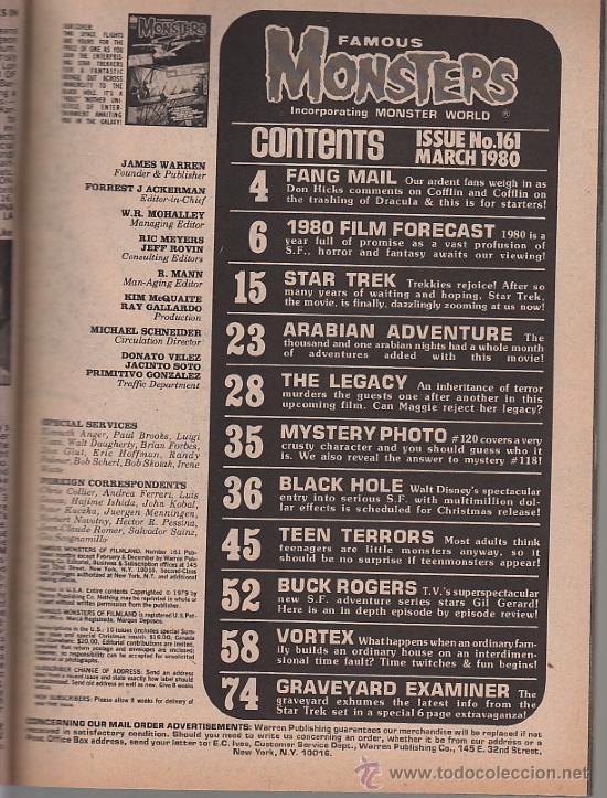 Cine: Famous Monsters of Filmland # 161 - Contenidos - Foto 3 - 31829728