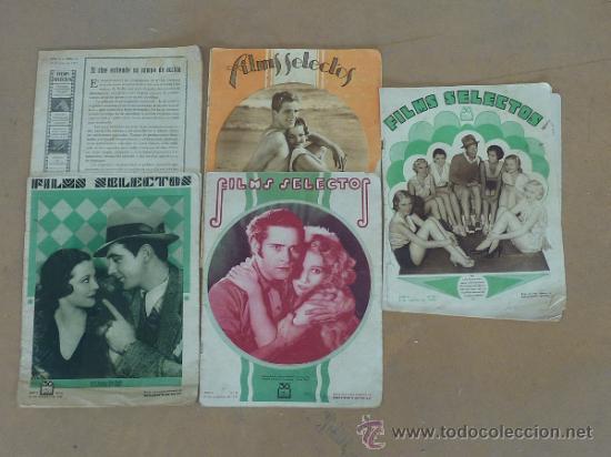 LOTE DE 5 REVISTAS DE CINE, FILMS SELECTOS. AÑOS 30S. (Cine - Revistas - Films selectos)