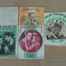 Cine: LOTE DE 5 REVISTAS DE CINE, FILMS SELECTOS. AÑOS 30S. . Lote 31873350