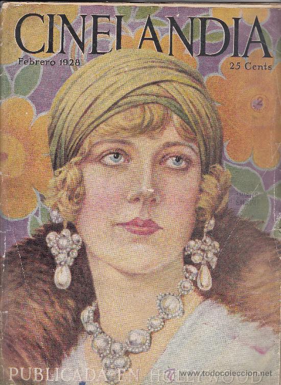 CINELANDIA, FEBRERO DE 1928, ART DECO (Cine - Revistas - Cinelandia)