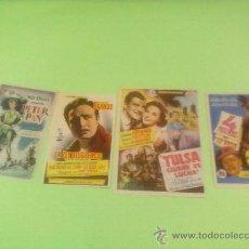 Cine: PROGRAMAS CINE ORIGINALES,AÑO 1954 LOTE 4 PROGRAMAS CINE GOYA ZARAGOZA. Lote 32078588