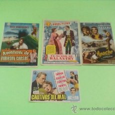 Cine: PROGRAMAS CINE ORIGINALES AÑO1954.LOTE 4 PROGRAMAS CINE GOYA ZARAGOZA. Lote 32078711