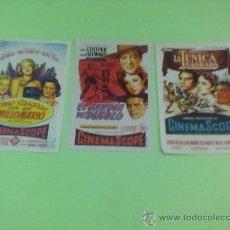 Cine: PROGRAMAS CINE ORIGINALES AÑOS1954-55,LOTE 3 PROGRAMAS CINE REX ZARAGOZA. Lote 32080940