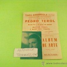 Cine: PROGRAMA DOBLE,ORIGINAL,TEATRO ALBUM DE ARTE, AÑO 1954 TEATRO ARGENSOLA ZARAGOZA. Lote 32091777