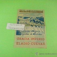 Cine: PROGRAMA DOBLE,ORIGINAL ,TEATRO,! GOLEADA !AÑO 1953 TEATRO ARGENSOLA ZARAGOZA. Lote 32091990