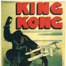 Cinéma: KING KONG. CARTEL DE CINE. POSTER DE CINE. TERROR. CIENCIA FICCIÓN. AVENTURAS.. Lote 32202445