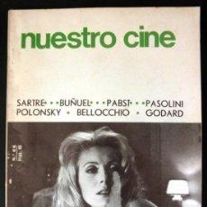 Cine: NUESTRO CINE Nº 66 SARTRE * BUÑUEL * PABST * PASOLINI * POLONSKY * BELLOCCHIO * GODARD. Lote 32227714
