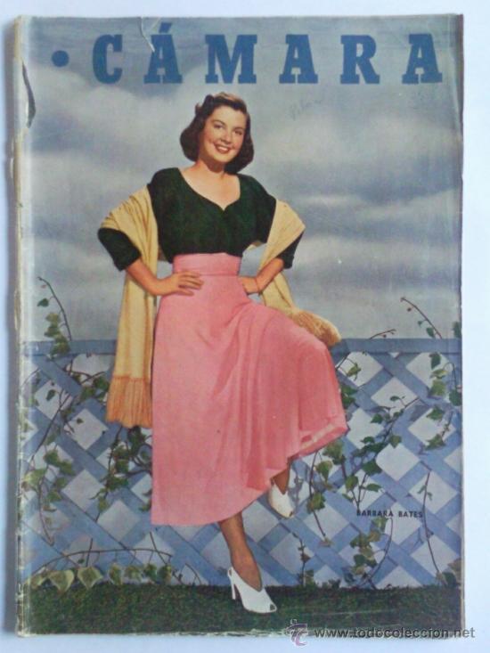 REVISTA CAMARA ,- Nº 160 ,- SEPTIEMBRE 1949, PORTADA BARBARA BATES (Cine - Revistas - Cámara)