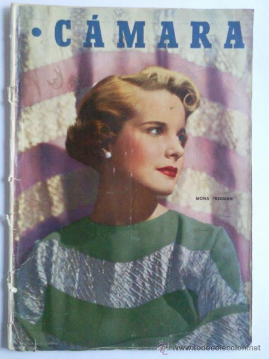 REVISTA CAMARA ,- Nº 163 ,- OCTUBRE 1949, PORTADA MONA FREEMAN (Cine - Revistas - Cámara)