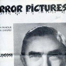 Cine: REVISTA HORROR PICTURES Nº 2 ESPECIAL BELA LUGOSI. Lote 35979290