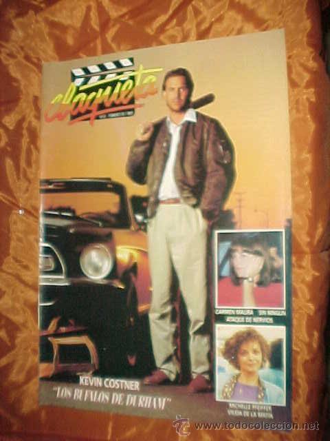 CLAQUETA Nº 0. FEBRERO 1989. KEVIN COSTNER. MICHELLE PFEIFFER. KELLY MCGILLIS. * (Cine - Revistas - Claqueta)