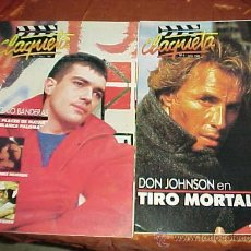 Cinema: CLAQUETA Nº 3 Y Nº 4. MAYO - JUNIO 1989. ANTONIO BANDERAS. DON JOHNSON. JAMIE LEE CURTIS. *. Lote 32357953