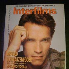 Cine: INTERFILMS - AÑO IV Nº 29 FEBRERO 1991 ARNOLD SCHWARZENEGGER: DESAFIO TOTAL. Lote 32466768