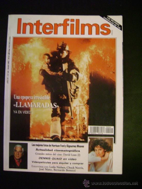 INTERFILMS - AÑO IV Nº 44 MAYO 1992 LLAMARADAS - GRANDES MITOS DEL CINE: DAVID LEAN (Cine - Revistas - Interfilms)