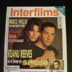 Cine: INTERFILMS - AÑO VI Nº 71 AGOSTO 1994 KEANU REEVES: SPEED - BRUCE WILLIS. Lote 32467303