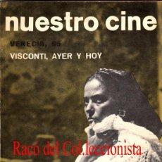 Cine: NUESTRO CINE Nº: 45 VENECIA 65. VISCONTI, AYER Y HOY. CONTRAPORTADA: NURIA ESPERT Y FRANCISCO RABAL. Lote 32554611