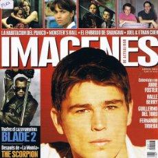 Cine: IMAGENES DE ACTUALIDAD - Nº 213 - 2002 - JOSH HARTNETT - GUILLERMO DEL TORO - JODIE FOSTER - TRUEBA. Lote 32608061