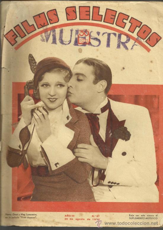 FILMS SELECTOS - AÑO III Nº 97-20 DE AGOSTO DE 1932 (Cine - Revistas - Films selectos)