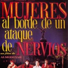 Cine: CUADRO CARTEL CINE EN MADERA 100X70 DE ALMODOVAR: MUJERES AL BORDE DE UN ATAQUE DE NERVIOS... Lote 32797088