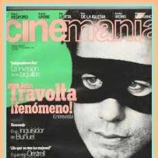 Cine: REVISTA CINEMANIA NÚM.12 SEPTIEMBRE 1996 JOHN TRAVOLTA LUIS BUÑUEL FESTIVAL DE CINE SAN SEBASTIAN 96. Lote 32875842