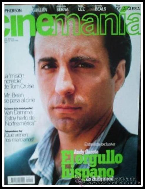 REVISTA CINEMANIA NUM. 10 JULIO 1996 - ANDY GARCIA, TOM CRUISE, ASSUMPTA SERNA, VAN DAMME (Cine - Revistas - Cinemanía)