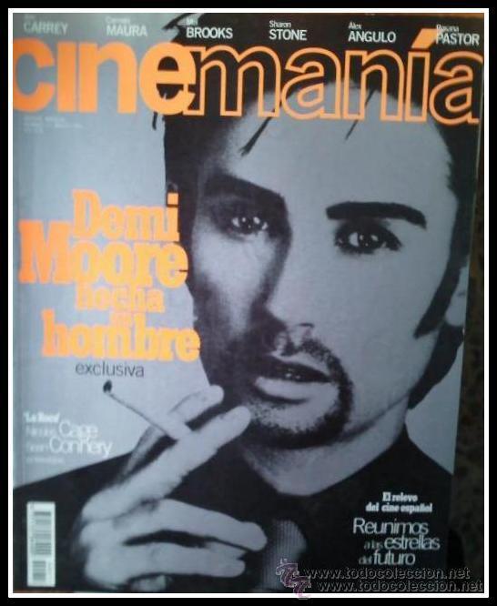 REVISTA CINEMANIA NUM. 11 AGOSTO 1996 - DEMI MOORE, JIM CARREY, SHARON STONE, CARMEN MAURA, ETC. (Cine - Revistas - Cinemanía)