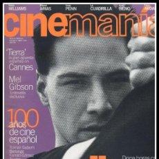 Cine: REVISTA CINEMANIA NUM. 8 MAYO 1996 - KEANU REEVES, ROBIN WILLIAMS, IMANOL ARIAS, SEAN PENN. Lote 32823065
