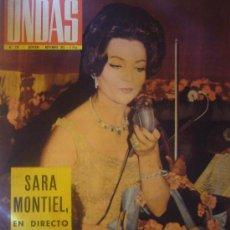 Cine: ONDAS Nº 238 1962 RADIO CADENA SER SARA MONTIEL ANTONIO VILAR RADIO BARCELONA TEATRO LICEO. Lote 33042283
