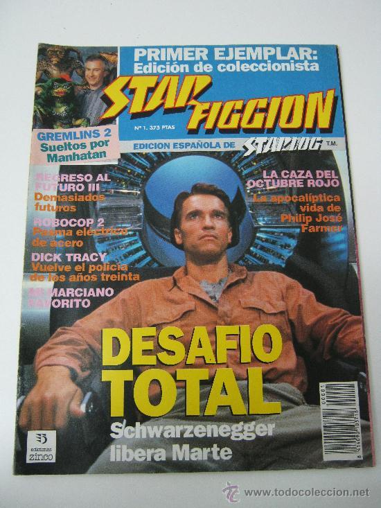 REVISTA STAR FICCION Nº 1 - SEPT 1990 - DESAFIO TOTAL (Cine - Revistas - Star Ficcion)