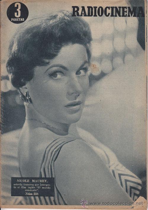 RADIOCINEMA. REVISTA CINEMATOGRÁFICA NACIONAL. Nº 238 (12 FEBRERO 1955) (Cine - Revistas - Radiocinema)