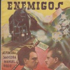 Cine: ENEMIGOS. COLECCIÓN CINEMA. EDICIONES MARISAL 1942. . Lote 33322992