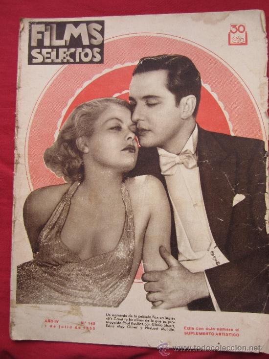 REVISTA, FILMS SELECTOS , NUMERO 142 JULIO 1933. (Cine - Revistas - Films selectos)