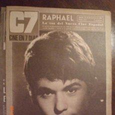 Cinema: CINE EN 7 DIAS Nº 299 31-12-1966 RAPHAEL. Lote 33360203